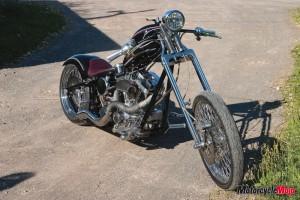 Award winning motorcycle at Butch Mason Blues Festival