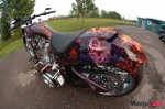 Custom Fabricated Motorcycle with cool paint job