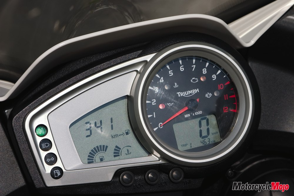 Motorcycle Instrument Panel : Triumph tiger on the prowl