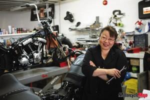 Female Bike mechanic