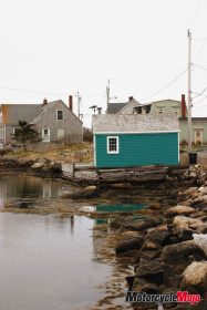 Fish hut on the coast of Newfoundland