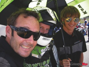 Under the umbrella on Race day