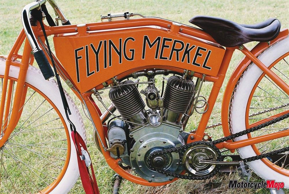 Flying Merkel Motorcycle Racer By Joseph Merkel