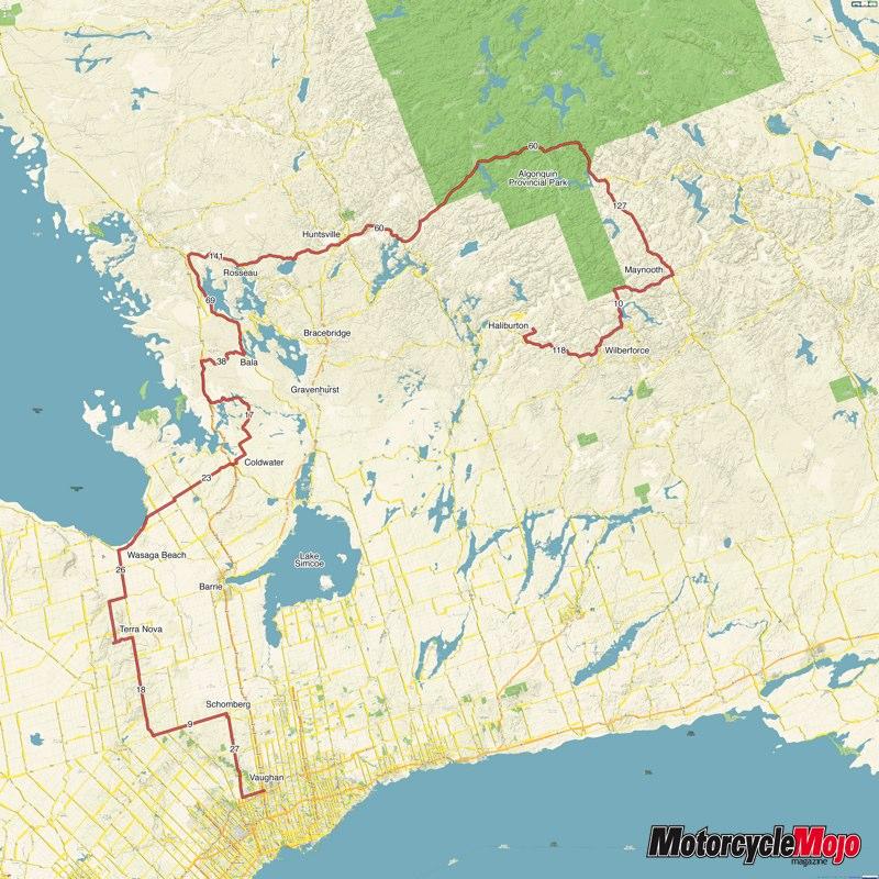 Ontario Motorcycle Tour Routes Algonquin Park Ride Through