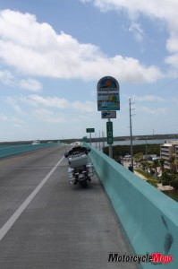 The start of the highway at Key Largo Mile 108