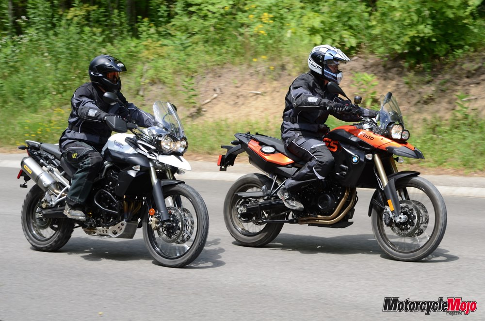 Pleasing Bmw F800Gs Vs Triumph Tiger 800 Xc Test Drive Review And Specs Bralicious Painted Fabric Chair Ideas Braliciousco