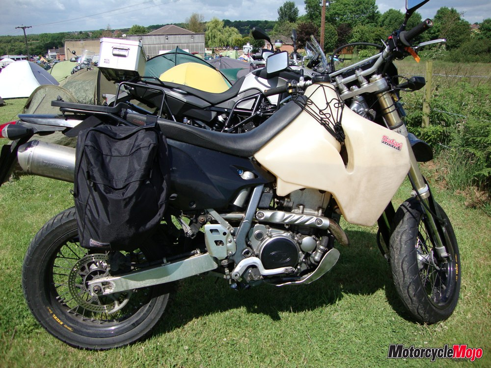 Motorcycle Packed For A Long Distance Trip
