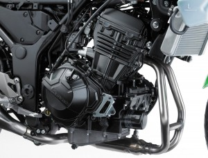 A new 296 cc twin produces 39 horsepower.