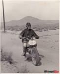 Mary McGee 1966 Hare Scrambles Mojave Desert Triumph 500 Motorcycle Mojo April 2013