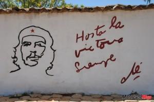 Che Guevera on wall