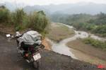 western road through Phong Nha road washed away