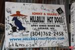 hillbilly hot dog sign