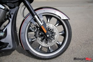Front wheel of Victory Magnum