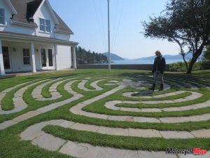 Contemplative walking labyrinth, Orcas Island