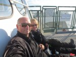 Ferry ride over, me and Brenda outside on the deck