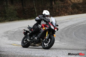 Test riding Yamaha FJ-09