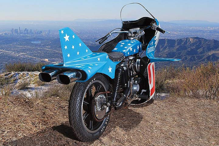 "Evel Knievel S 1976 Harley Davidson Xl1000 Motorcycle: Evel Knievel ""Stratocycle"" Up For Auction"