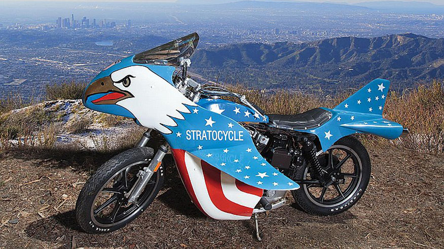 """Evel Knievel S Movie Bike Up For Auction: Evel Knievel """"Stratocycle"""" Up For Auction"""