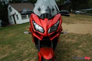 headlights of Kawasaki Versys 1000