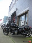 A Triumph poses outside the _Lifestyle and Motorcycle Boutique_