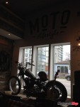 A display motorcycle inside the Lifestyle & Motorcycle Boutique at Internatioinal Motorsports in Vancouver
