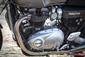 engine of Triumph's Bonnevilles