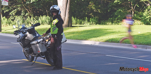 Motorcyclist at Pan Am Games