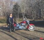 brenda yamkowy beside bike