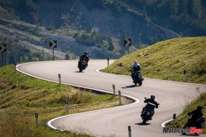 Italian alps motorcycle ride