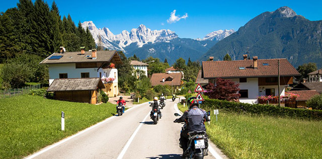 itallian alps motorcycle travel