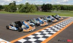 Karts at start finish line