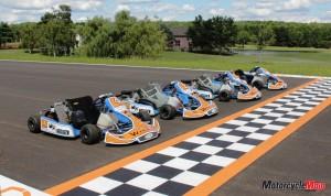 Karts at start finish line