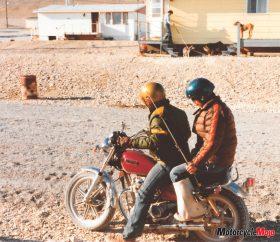 Larry nuna on motorcycle