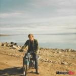 Larry nuna on bike