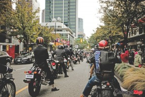 Riding in The Distinguished Gentleman's Ride