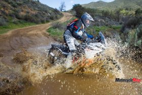 2017 KTM 1090 Adventure R Riding in Water