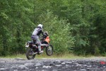 Motorcycle Riding Over Rocks