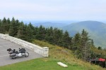 A Motorcycle Parked on a Mountain in Vermont