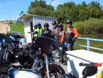 Riders on Bleriot Ferry