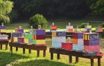Colorful Beehives in Ohio