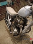 Engine of a Custom Yamaha Motorcycle at the Oil and Rust Motorcycle Show