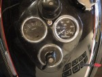 Speedometer of a Custom Motorcycle at the Oil and Rust Motorcycle Show