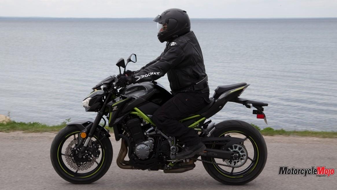 Riding The Kawasaki Z900 ABS By Water