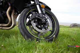 Kawasaki Z900 ABS Wheel on the Grass