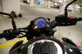 Speedometer of the Kawasaki Z900 ABS
