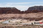 Riding in a high-desert landscape