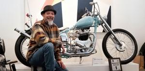 Paul Wong Key and His Custom Motorcycle at Kickstart 2017