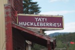 Finding a Huckleberry Sign in Montana