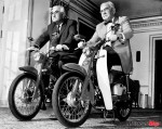 Fred Jr. and Sr. on Motorcycles