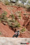 Riding Past A Hill in Spain on Motorcycle